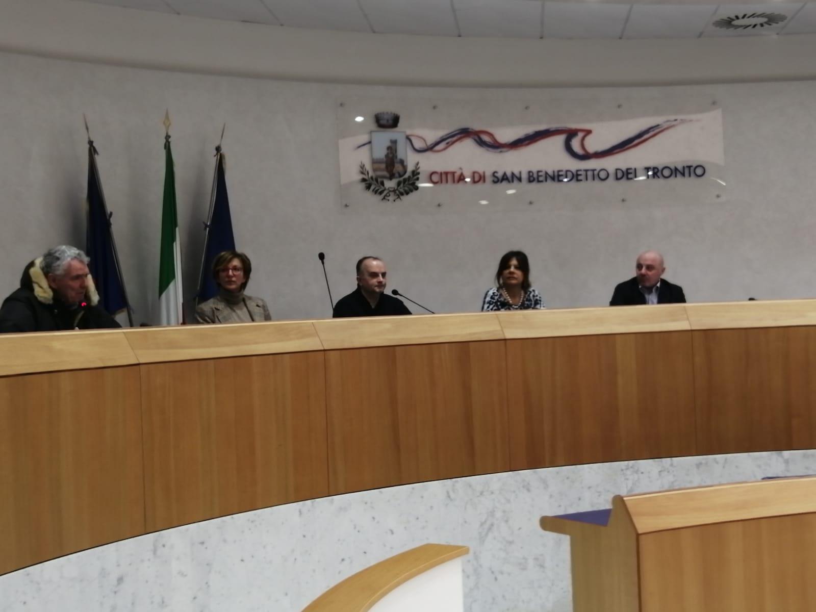 Alcuni momenti della conferenza stampa