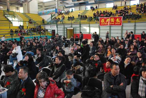 Il pubblico presente al Palazzetto
