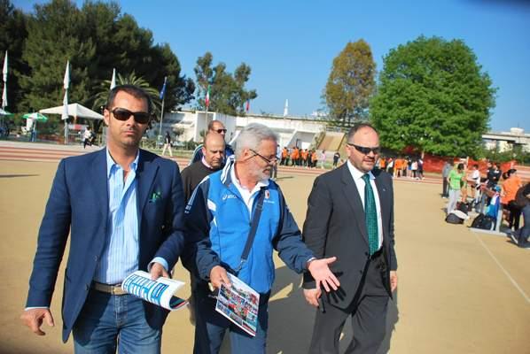 Il sindaco Gaspari con il responsabile FIDAL di settore Bruno Cappello