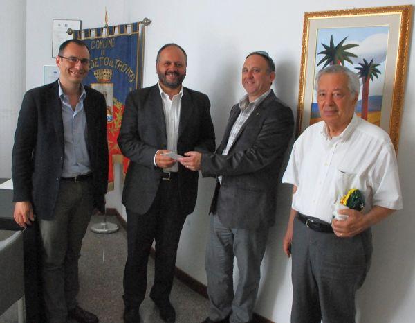 Aldo Mecozzi ricevuto in Municipio