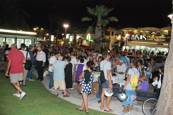 Il pubblico durante l'inaugurazione