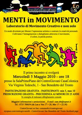 """La locandina di """"Menti in movimento"""""""