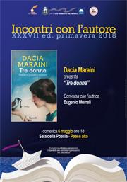 Incontri con l'autore   Dacia Maraini