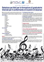"""Bando Istituzione comunale """"A. Vivaldi"""""""