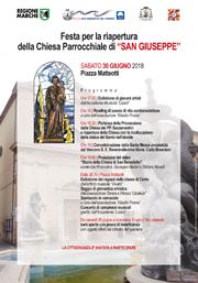 Festa riapertura chiesa di San Giuseppe