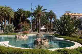 La Rotonda Giorgini con la fontana