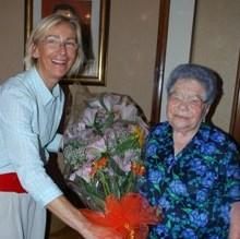 Auguri a Giuseppina Corsini per i suoi 100 anni
