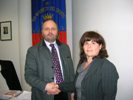 Il nuovo segretario comunale Dott.ssa Serafina Camastra con il sindaco Giovanni Gaspari
