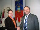 Il sindaco Gaspari con l'imprenditore Ciulla