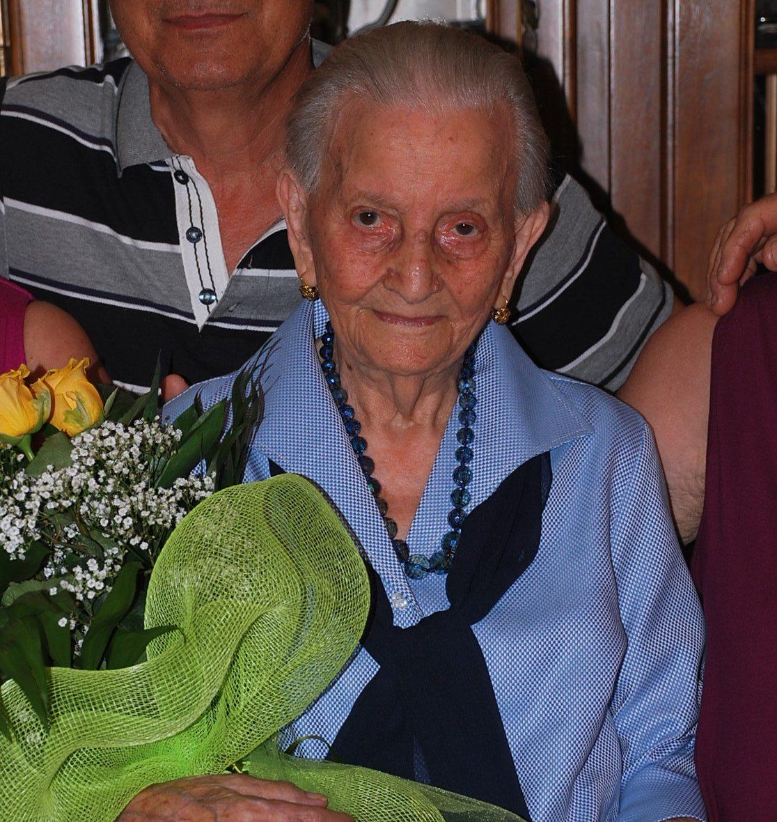 Argentina Maroni compie 100 anni