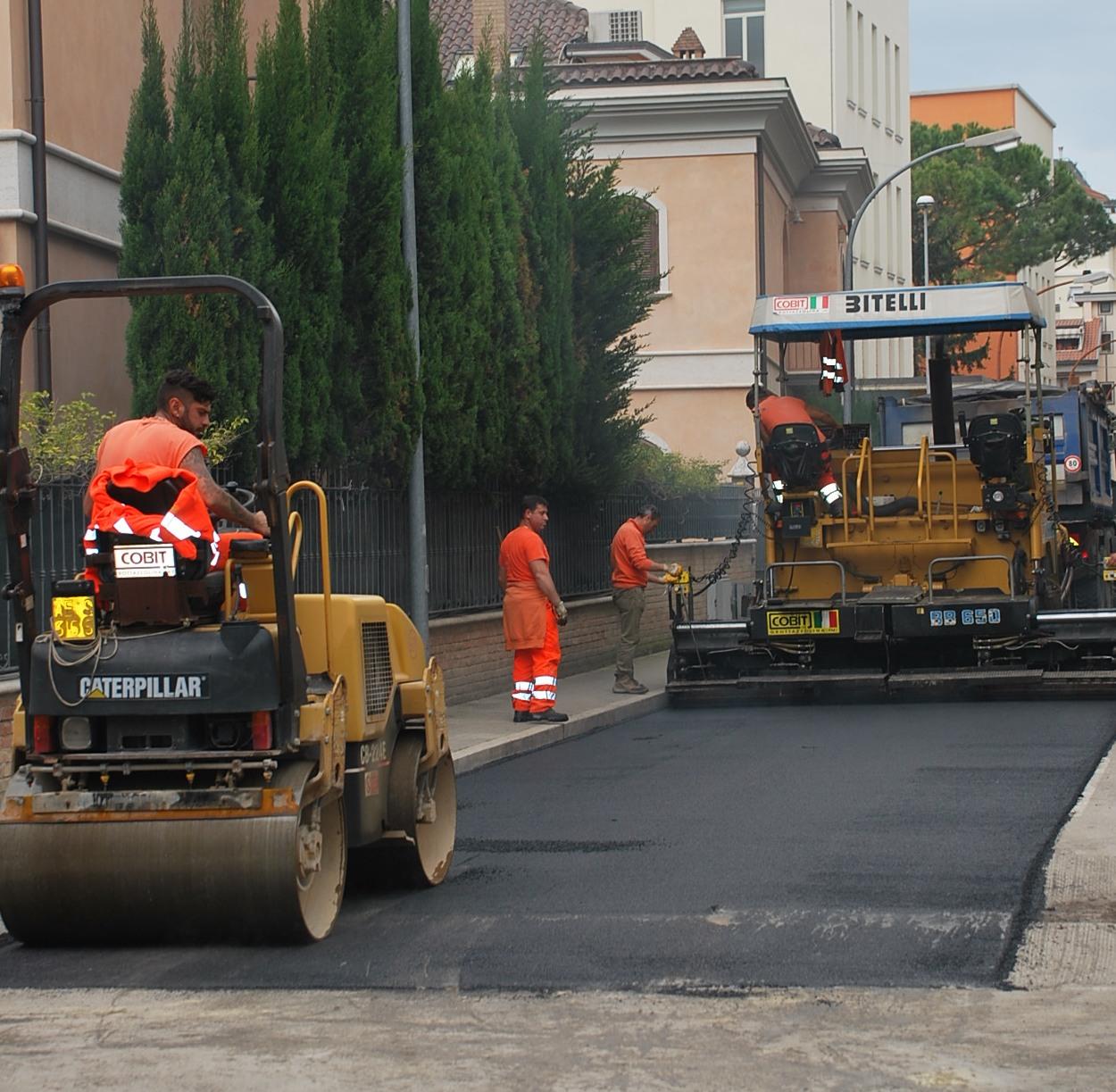 Nuove pavimentazioni anche in via Marsala e via Botticelli