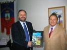 Il sindaco Gaspari ed il commissario prefettizio Costantini