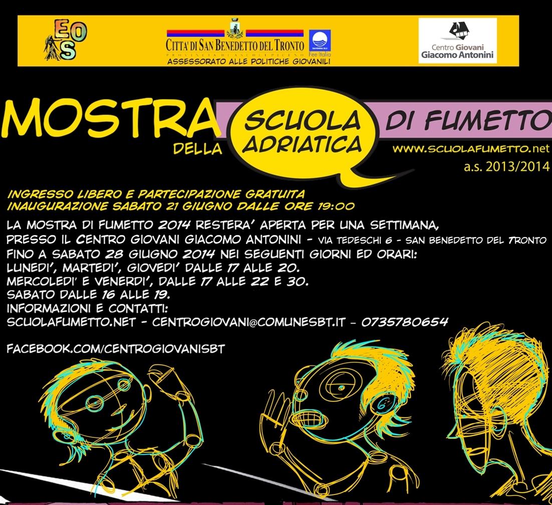 Sabato 21 giugno si inaugura la mostra di fumetto del Centro Giovani