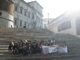foto di gruppo sulla scalinata del Quirinale