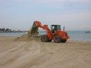 La pulizia della spiaggia è quasi terminata