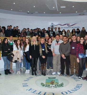 Ricevuti in Municipio gli studenti del progetto Comenius