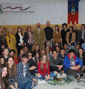 Studenti del progetto Erasmus ricevuti in Comune