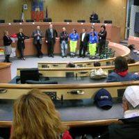 I terremotati abruzzesi ospiti in città ricevuti in Comune dal sindaco Gaspari