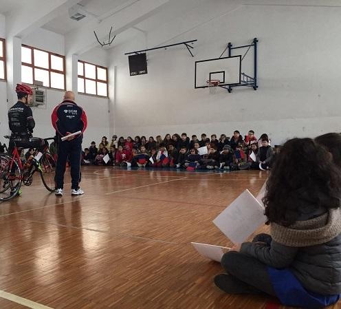 """""""Tirreno Adriatico"""", Zandegù ha raccontato la sua vittoria agli studenti"""