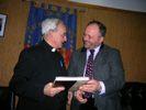 Il sindaco Gaspari con Mons. Azcona