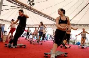 una palestra fitness