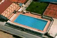 Un'immagine dell'impianto polisportivo dall'alto