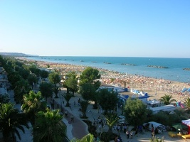 the new sea-front in San Benedetto