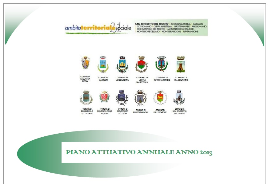 Piano attuativo annuale anno 2013
