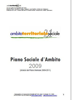 Piano Sociale d'Ambito 2009