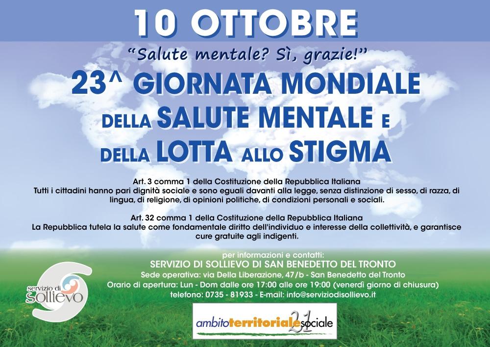 10 ottobre - Giornata mondiale della Salute Mentale e della lotta allo stigma