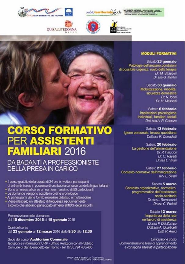 Corso formativo per Assistenti Familiari 2016
