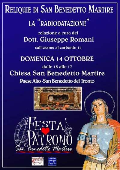 """La """"radiodatazione"""" delle reliquie di San Benedetto Martire"""